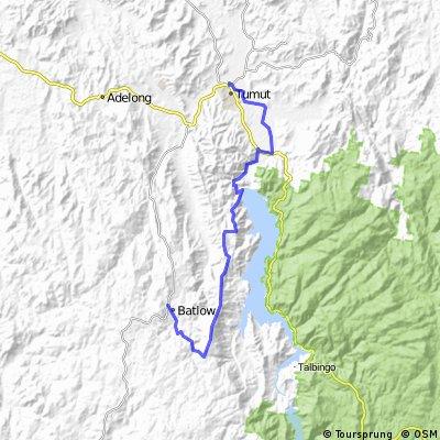 batlow - tumut via forest dam