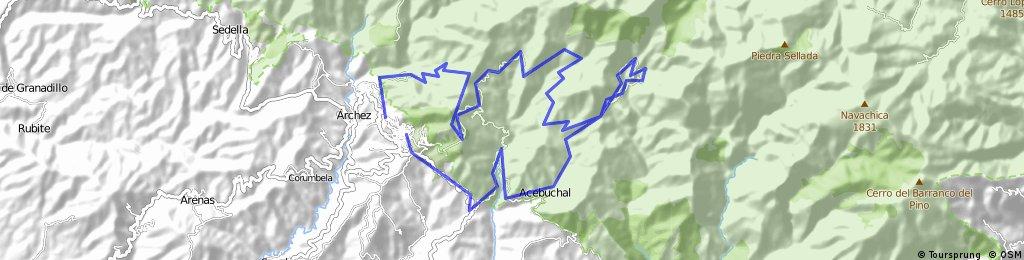 Mtb Flakkee Route Competa-Cruz de Canillas-Collado-Pradillos- Paez Blanca- Acebuchal-El Pulido-Competa