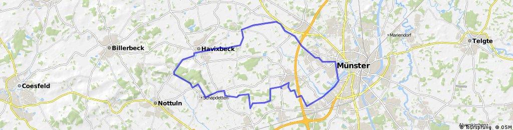kleine Runde von Münster nach Havixbeck