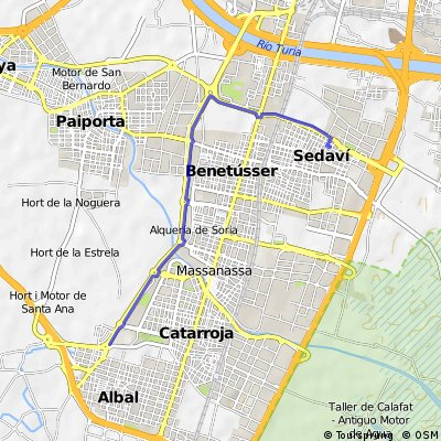 Ruta del colesterol, ruta conocida por todos que une las poblaciones de  sedaví-alfafar-benetusser-massansa-catarrroja-albal.