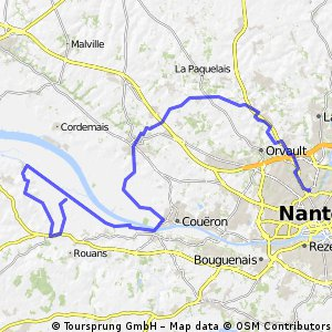 80 km nord ouest