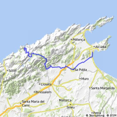 Port d'Alcudia - Sa Pobla - Sa Calobra