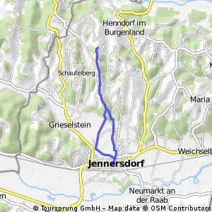 Oasis-Jennersdorf 9,8 km