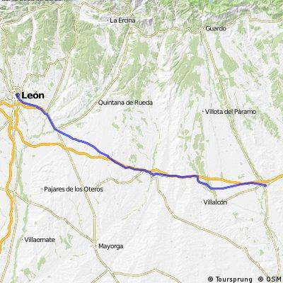 7.etapa Carrión de los Condes - Sahagún - El Burgo Ranero - León