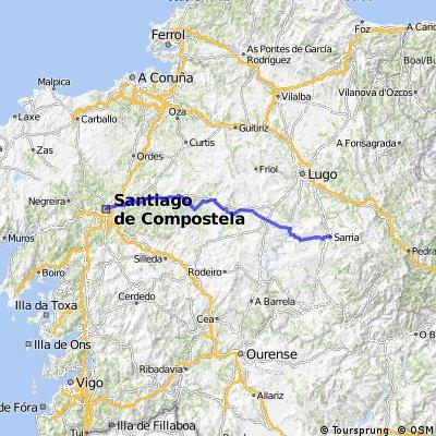 10.etapa Sarria - Portomarín - Palas de Rei- Santiago de Compostela