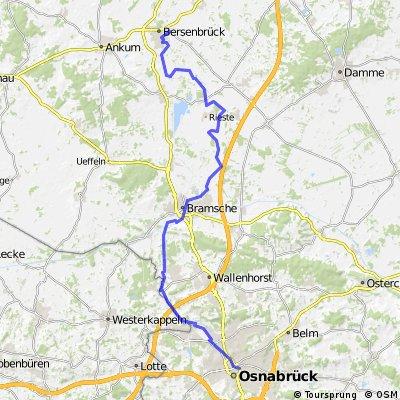 1. Tag Osnabrück-Bersenbrück 49 km