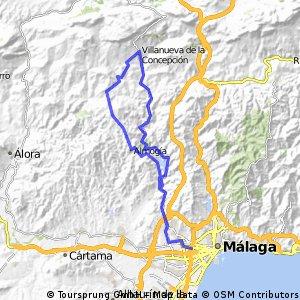 Málaga -  Almogía - Villanueva de la Concepción - Málaga
