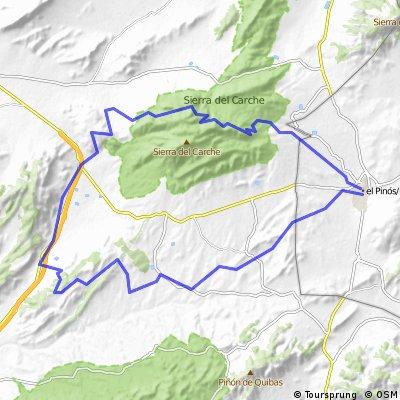 Pinoso, La Rosa, Cabecico Jumilla, El Puerto, GR-7, Torre del Rico