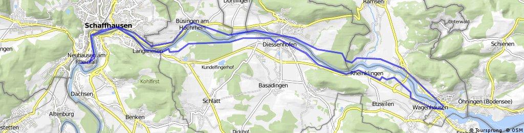 Schaffhausen und Rheinfall