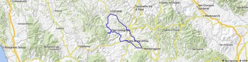 San Gimignano - Monteriggioni - Certaldo - Rundkurs