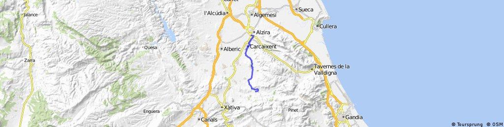 Barcheta Alzira por camino rural