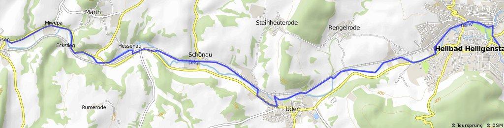 Leineradweg Heilbad Heiligenstadt - Arenshausen