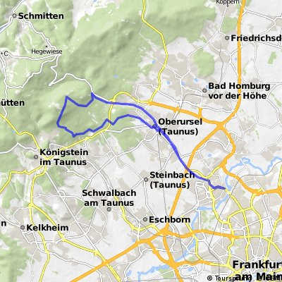 MTB Route KlaaParis -  Weiße Mauer Taunus Trail