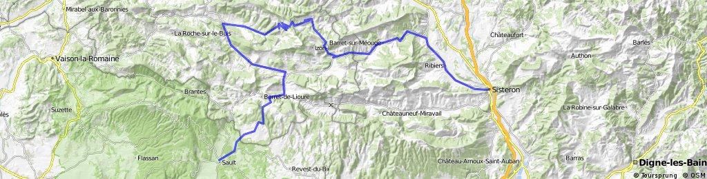 Alpentocht 2015 alternatief dag 4: Sisteron - Sault