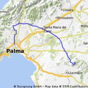 Ruta Palma - Santa Maria - Algaida - Cura - Algaida