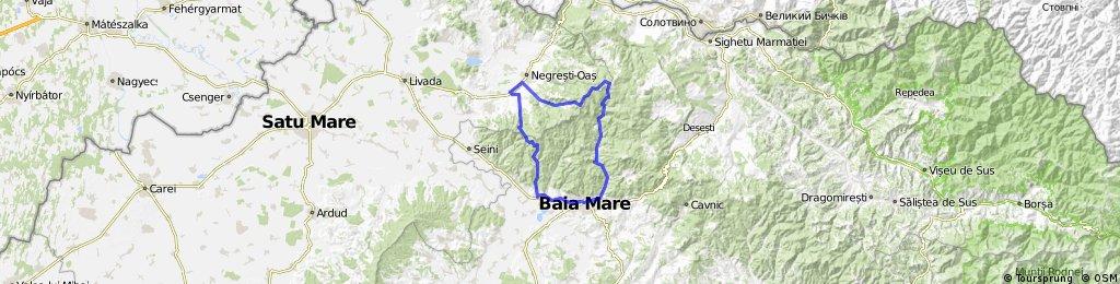 Blidari-Rotundu-Trestis-Luna Ses-Negresti-Vama-Nistru-Baia Mare.