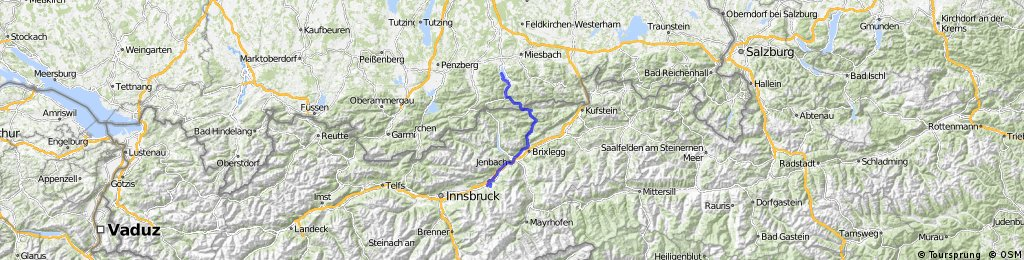 MTB-Alpencross Tegernsee - Villanders bei Bozen - Etappe 1: Bad Wiessee-Weerberg