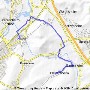 Joggingroute 11,22 KM