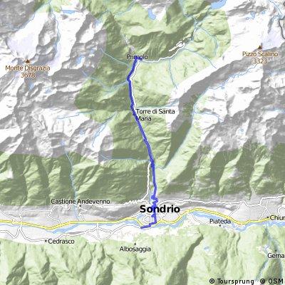 Sentiero Rusca da Albosaggia a Chiesa in Valmalenco