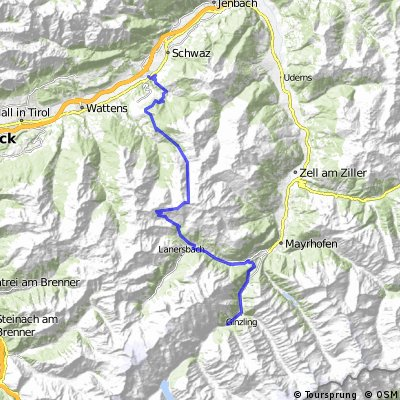 MTB-Alpencross Tegernsee - Villanders bei Bozen - Etappe 2: Weerberg-Ginzling
