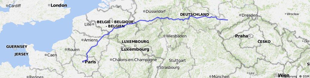 Fahrradtour von Chemnitz nach Paris Eifelturm