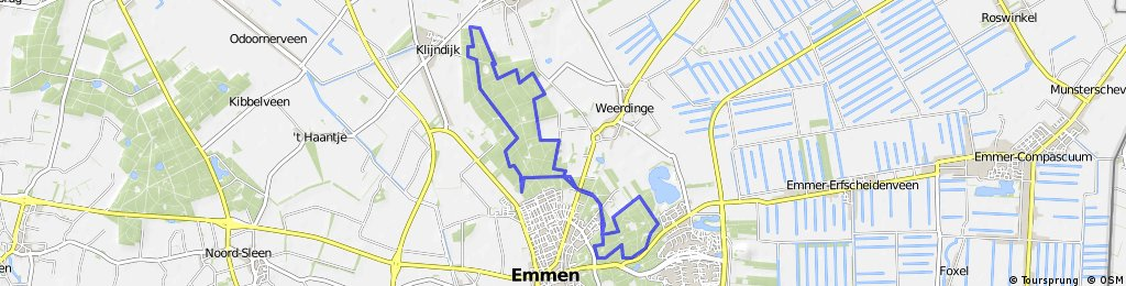 MTB-route Emmen