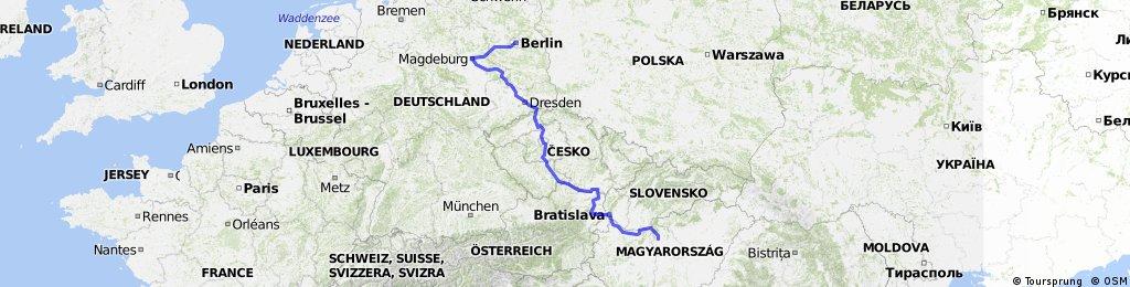 Berlin to Budapest via Elbe and Danube