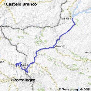 LA RAYA: 3ª etapa. Portagem-Alcantara