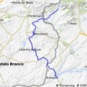 LA RAYA: 4ª a) Etapa. Alcántara - Valverde del Fresno