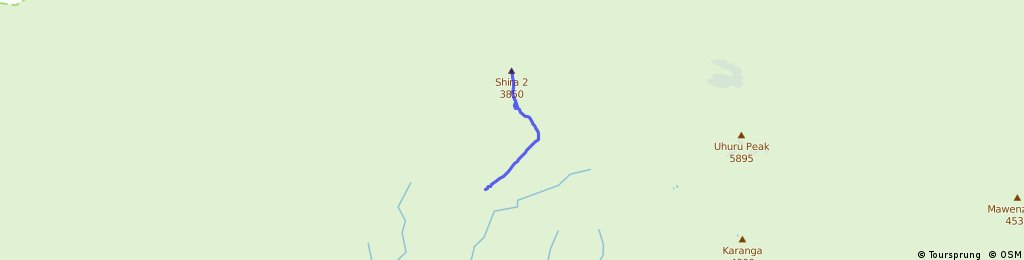 Day 2 Machame Hut to Shira 3800