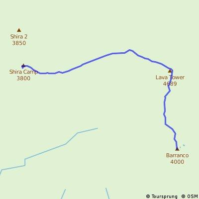 Day 3 Shira 3800m to Barranco 4000m
