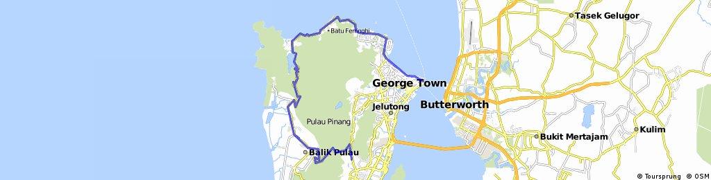 Penang (Relau - Balik Pulau - Teluk Bahang - Batu Feringgi - Bike Rental Place)