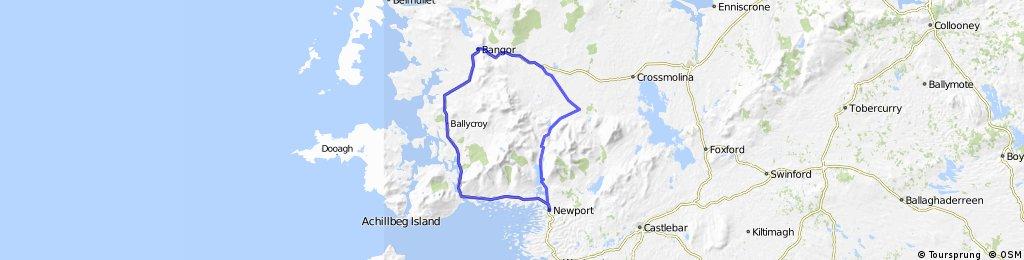 Newport Mulrany Ballycroy Bangor Newport Loop
