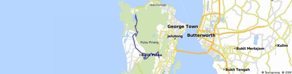 Penang (Relau - Balik Pulau - Teluk Bahang - return)