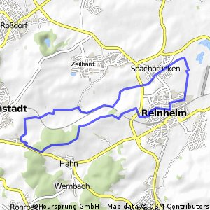 Fahrradtour Reinheim-Oberamstadt-Spachbrücken-Teich zurück
