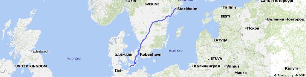 Stockholm - Dänemark Fähre