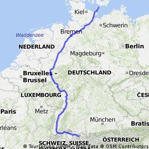 Norddeutschland - Schweiz