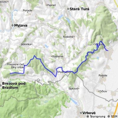 Bradlo - Cachticak cez Osmek