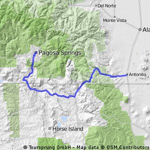 Cycling routes and bike maps in and around Pagosa Springs | Bikemap ...