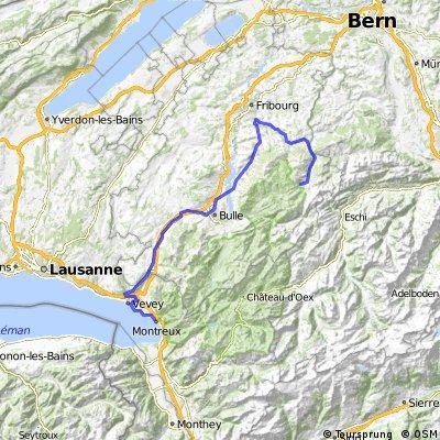 Montreux VD  -  Lac Noir FR