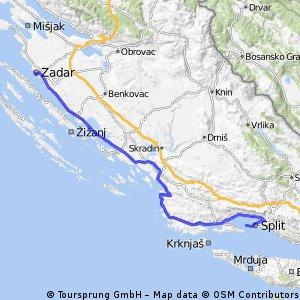 Split-Zadar via Trogir