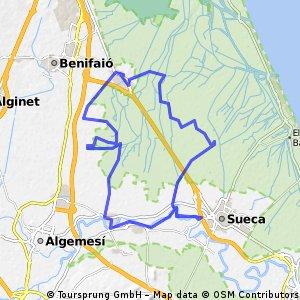 Sollana - Abalat de La Ribera - Sueca - Montañeta dels Sants