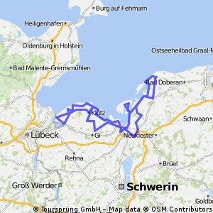 BRT2015 - Ostsee-Radmarathon - RTF des Förderverein Radfahren in MV e.V. - 226 km Strecke