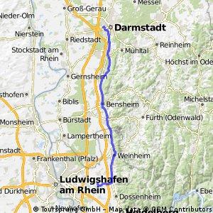 Ladenburg - Darmstadt