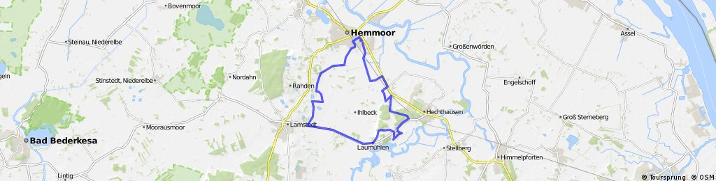 Hemmoor Laumühlen Wohlenbeck 26Km