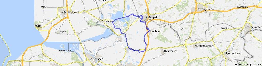 Staphorst, Zwartsluis, Meppel, Ronde van Staphorst, Staphorst.