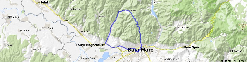 Baia Mare - Usturoiu - Drum forestier - Ulmoasa - Baita - Tautii Magheraus - Baia Mare