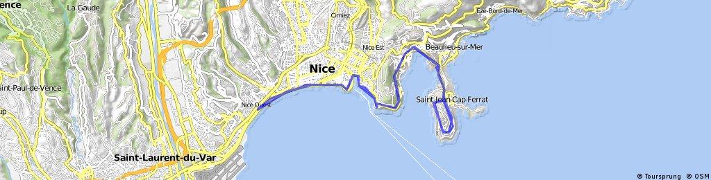 Long ride through Nice