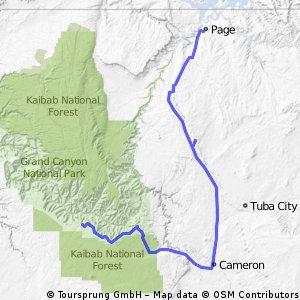 GrandCanyon nach Page (Lake Powell)