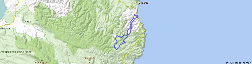 MTB-Berg: Vieste-Piscina Romanello (MTB)